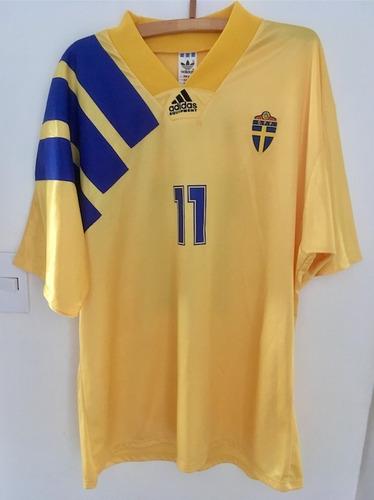 Rara Camisa Suécia Euro 1992 Thomas Brolin 11