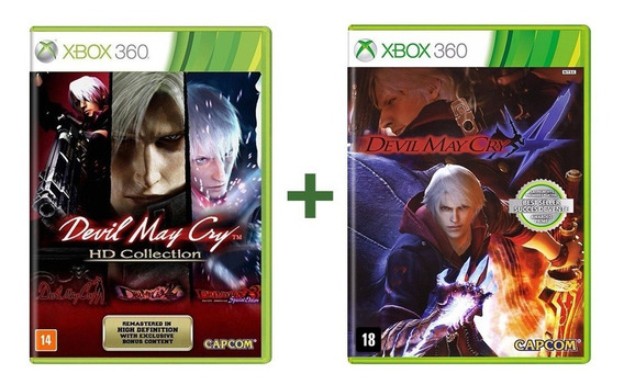 Devil May Cry Hd Collection + Devil May Cry 4 Xbox 360 Novo