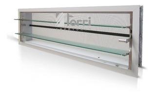 Aireador Ventiluz De Aluminio Blanco 060x026 Con Reja