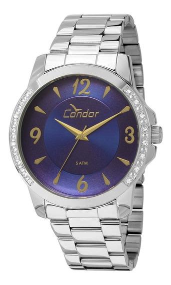 Relógio Condor Eterna Fem. Prata Analógico Co2035kon/3a Nfe
