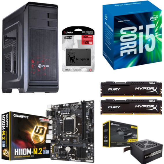 Pc Hunter Intel I5 7400 H110m M2 Hx 16gb Vs400 Ssd 120gb
