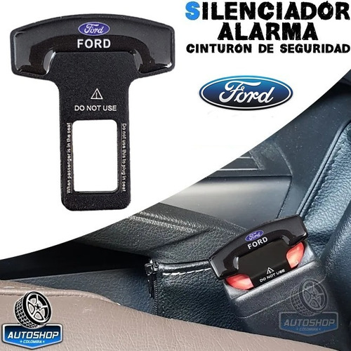 Silenciador Cinturon Seguridad Ford Autoshop Hebilla