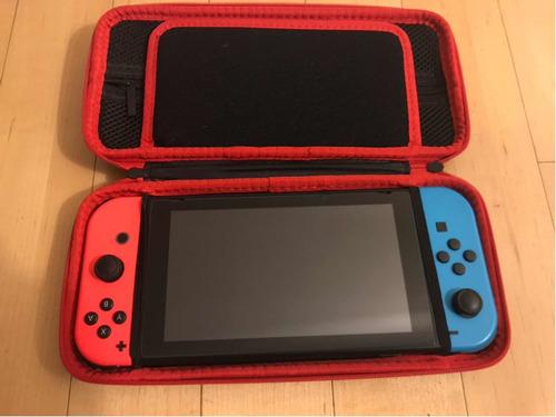 Nintendo Switch 32gb- 2019 Como Nueva Rojo Neon Azul Y Negra