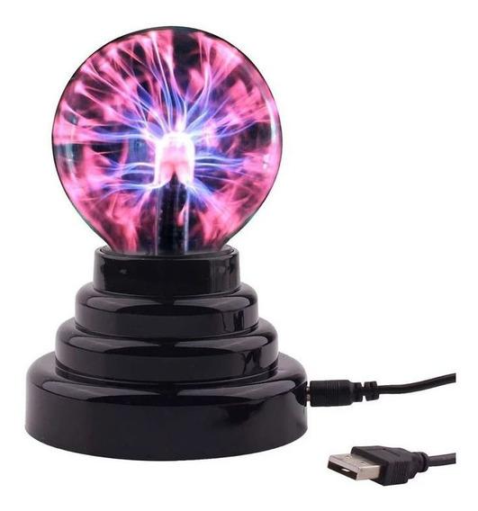 Globo De Plasma Light Luminária Raios Bivolt