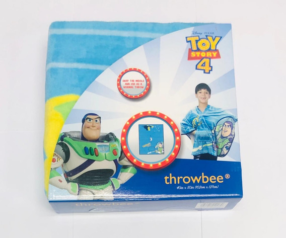 Toy Story 4 Buzz Throwbee Cobertor