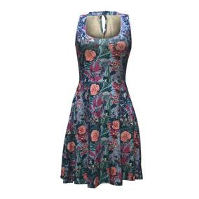 Vestido Estilo Boneca Acinturado Modelo Primavera Verão