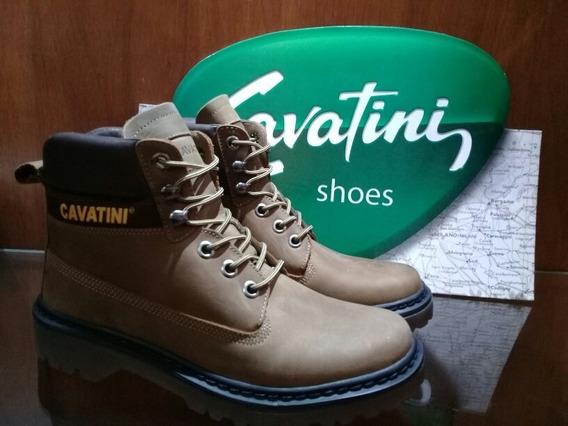 Botas Cavatini Hombre Borcegos Zapatos Trekking Cuero Vacuno