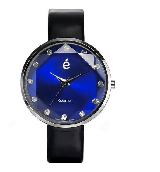 Hermoso Reloj Azule Esika Mujer 12 Cristales Dial Facetado