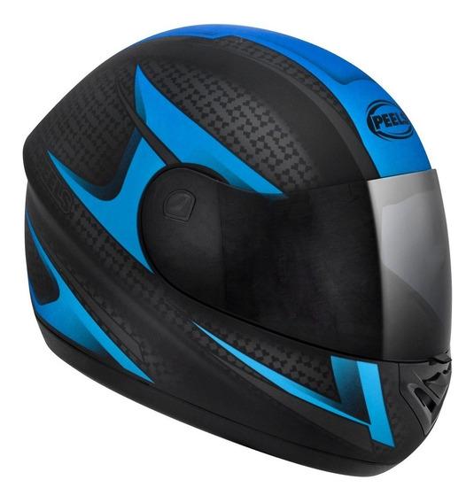 Capacete Moto Peels Spike Storm Preto Azul Fosco Com Nf