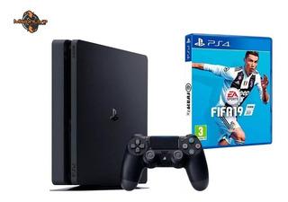 Ps4 Playstation Slim + Joystick + Juego Fifa 19 1 Tb Oferta