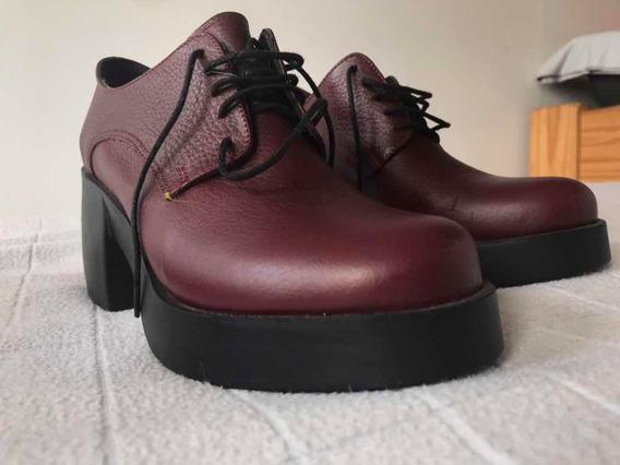Zapatos Bordó De Vía Uno Nuevos