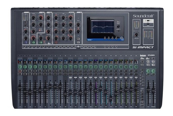 Mesa De Som Digital Si Impact Soundcraft 32 Canais