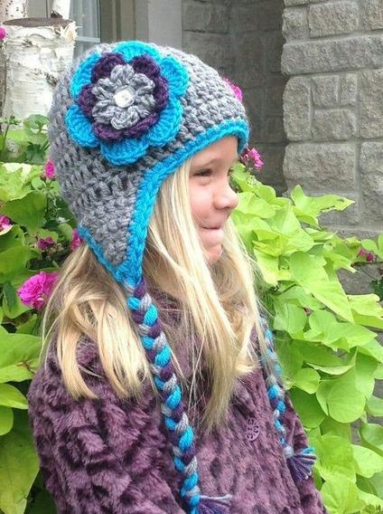 Kit 4 Toucas Em Crochê Personalizado Modelos Variados