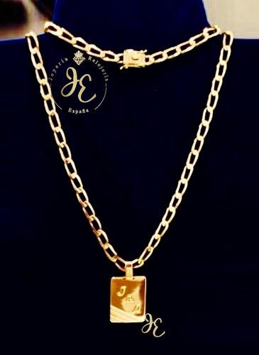 Cadena De Oro 18k Lomo Abierto Hombre Jespaña Cc_85 Collar