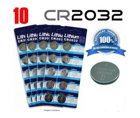 Bateria Cr2032 3v Lithium Kit 10 Unidades Cartela Placa Mãe