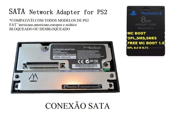 Adaptador De Hd Modem Sata Ps2+mc Boot Ps2