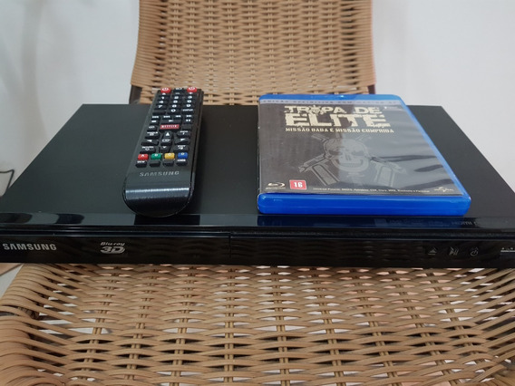Blu-ray Smart 3d C/ Adptador Wireless E Filme Tropa De Elite