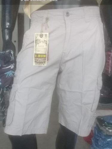 Bermuda Hombre Cargo Importada. Varios Bolsillos. Solo 38/40