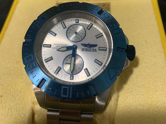 Invicta Pro Driver 14059 Masculino (prata E Azul)