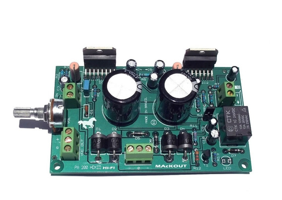 Placa Amplificador 200w Rms Pa200 Hdxii Mackout Tda7294