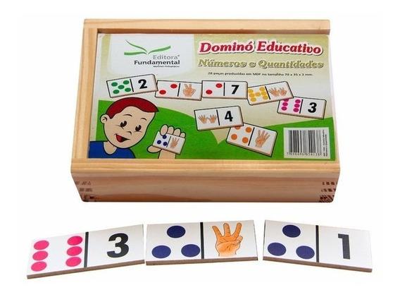 Jogo Dominó Educativo Números E Quantidades 28 Peças
