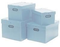 Caixa Organizadora Polionda - Kit Com 3 Peças Prata