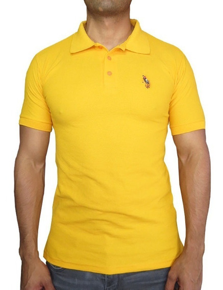 Playera Hpc Polo 3034-hk Amarillo
