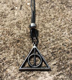 Colar Harry Potter Relíquias Da Morte Bicudos Regulável