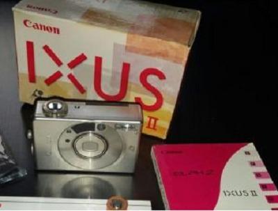Câmera Fotográfica Canon Ixus Ii Ix240 Still. Caixa. Manual.