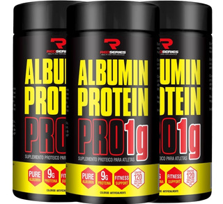 Combo 3 X Albumina Protein Pro 1g (120 + 120 Tabs) Promoção