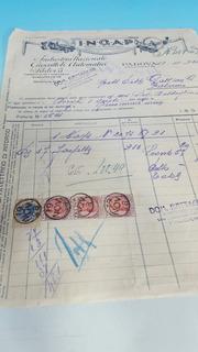 Juguete Antiguo Nota De Venta Fabrica Ingap Italia 1929