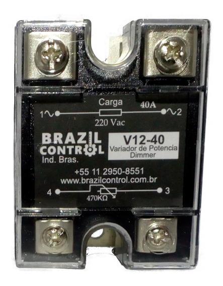 Rele Estado Solido Variador De Potencia V12-40a 40amp 220vac
