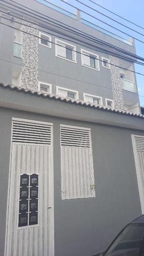 Imagem 1 de 22 de Cobertura Com 110 M² Sendo 2 Dormitórios, 1 Suíte, 2 Vagas À Venda Por R$ 408.000- Utinga - Santo André/sp - Co0980