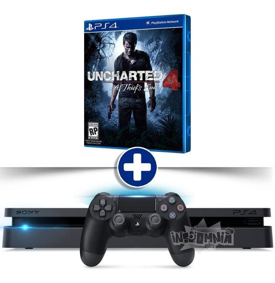 Playstation 4 Ps4 Slim 500gb + Jogo Bivolt C/ Nota Fiscal
