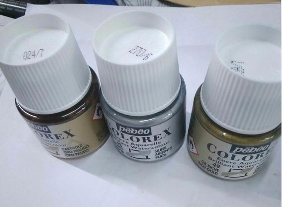 Tintas Comic Pebeo Colorex X 45 Ml. Colores Metalicos X Uni