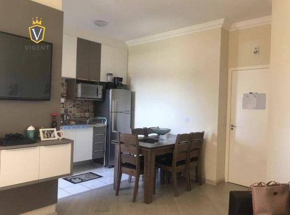 Apartamento Térreo À Venda No Condomínio Girassol Nova Cidade Jd. Jundiaí - 48 M², 1 Dorm., 1 Vaga, Lazer No Condomínio! - Ap1234