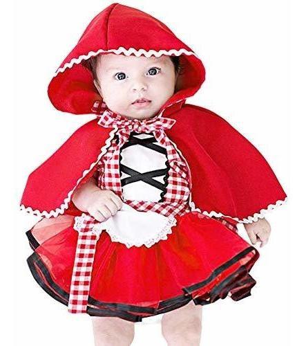 Disfraz Caperucita Roja Para Bebe 0m-6 Años