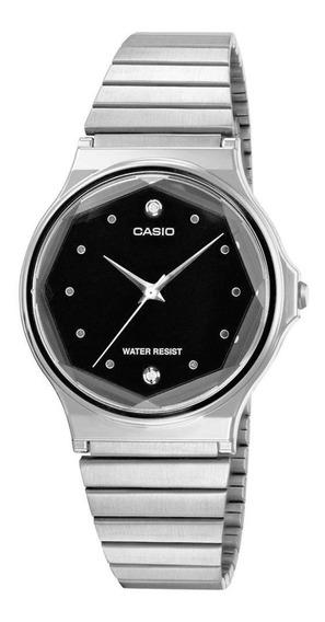 Relógio Casio Vintage Feminino Prata Diamante Mq-1000d-1adf