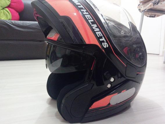 Capacete Robocop Escamoteável Mt Helmets Raceline Evo 2 N°58