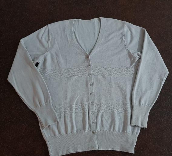 Cardigan - Saquito - Sweater Abotonado - De Hilo Para Mujer