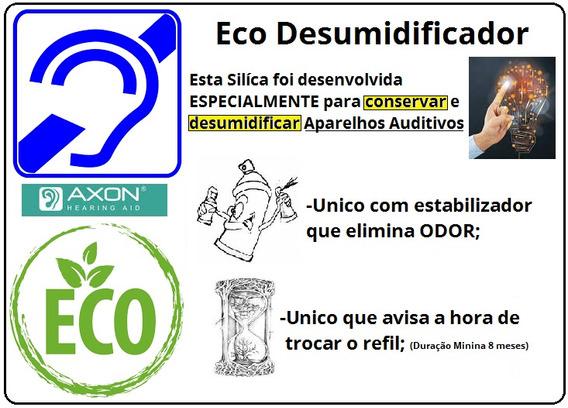 Eco Sílica Desumidificador Axon Para Aparelho Auditivo