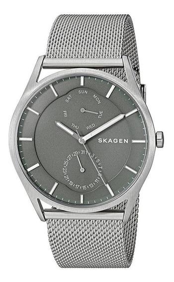 Relógio Skagen Masculino Skw6383/1kn Multifunção Prateado