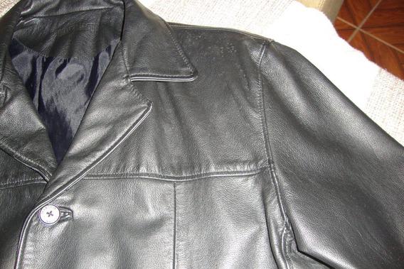 Jaqueta-blazer -couro Legítimo -50 -preta -fem - J.marcuir