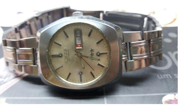 Relógio Voken 3 Estrelas Automático Antigo N Omega Tissot ..