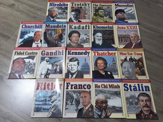 Coleção Livros Grandes Líderes Séc Xx - 18 Livros 1990 Raro