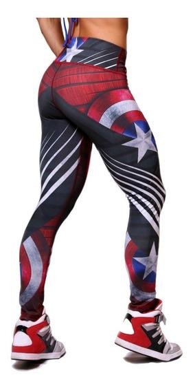 Leggings Capitan America Avengers Endgame Crossfit Licra