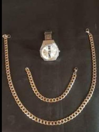 Vendo Juego Para Hombre  Cadena  Esclava Y Reloj