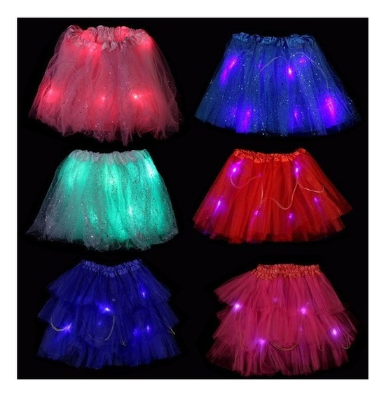 Pollerita Tutu Princesa Led - Colores Cotillon Disfraz