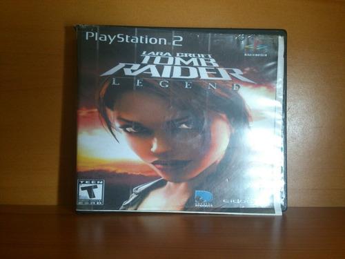 Tomb Raider Legend Lara Croft Juego Playstation 2 Ps2