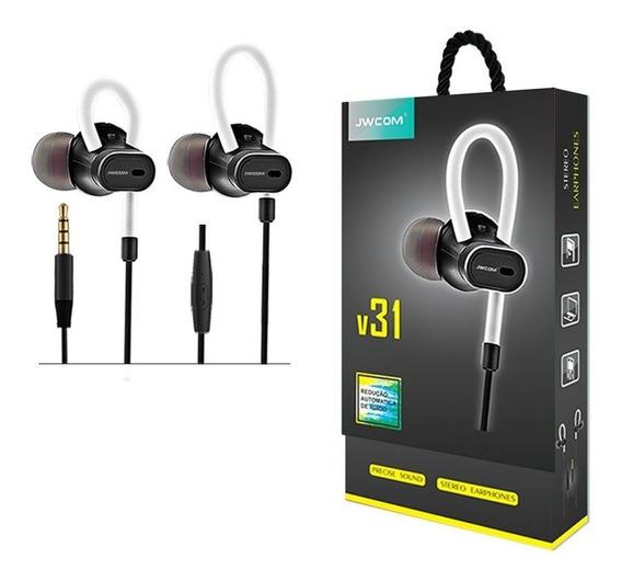 Kit 2 Fone De Ouvido Com Microfone - P2 - Jwcom V31